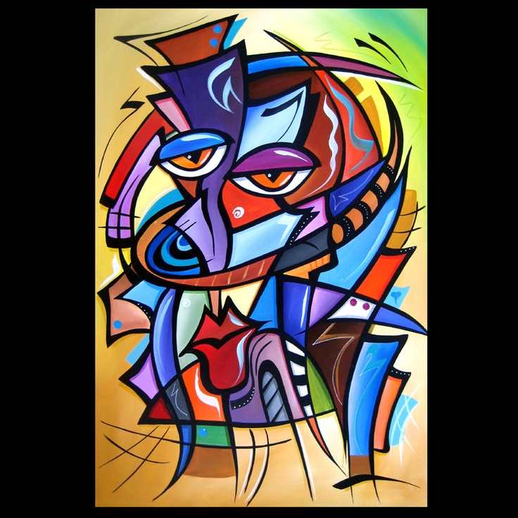 """Artist: Thomas Fedro Title: """"Yes Indeed"""" Size: 24"""" x 36"""" Media: Acrylic Support: Stretched Canvas Created: 2012 Edition: Original Signed: Front & Back READY TO HANG! FREE USA SHIPPING"""