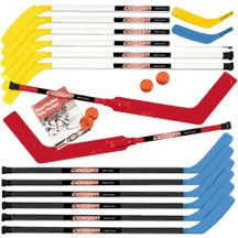 """43"""" Junior Hockey Stick Set with Goalie Sticks"": ""For grades 5 through adult. Designed for… #SportingGoods #SportsJerseys #SportsEquipment"