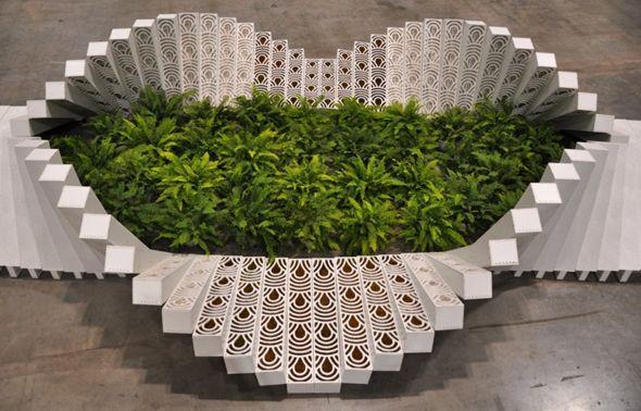 Ce jardin a été conçu par Asensio_mah en collaboration avec des étudiants de l'école de design Harvard Graduate School of Design. Il a été installé au salon  » Fleurs de jardin »  2012 au Canada  à Toronto.