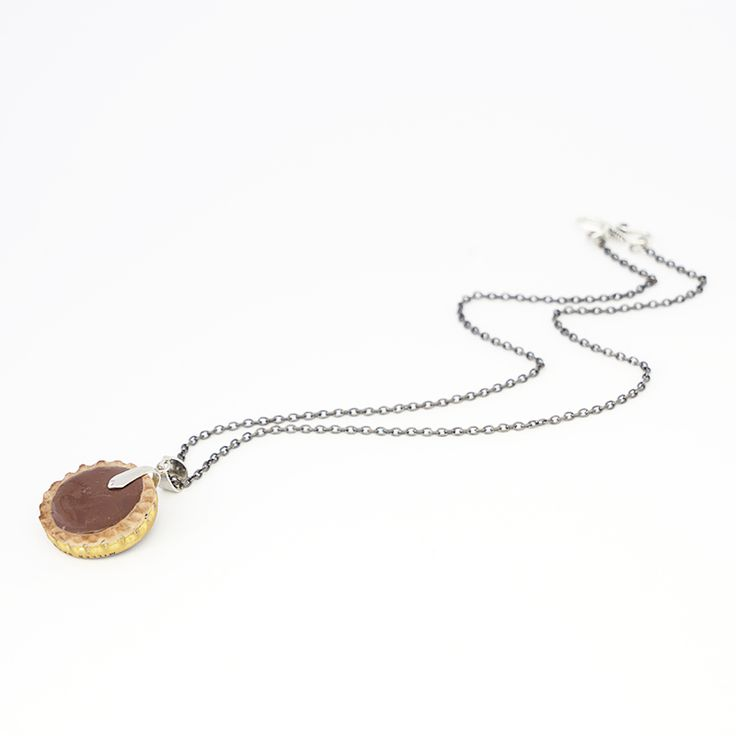 Chocolate Tart Necklace