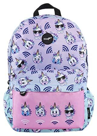 7d7b97daf1ac FRINGOO Girls Boys School Backpack Waterproof Travel Bag Fits Laptop 17   ( Unicorn WiFi)