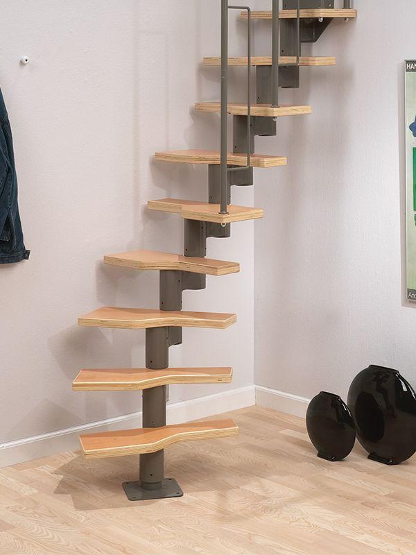 Dolle Graz Modular Staircase Kit Grey Or Black DIY Multiple Layouts