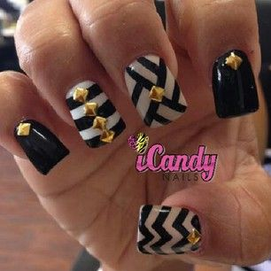 Black and White iCandy Nail Art