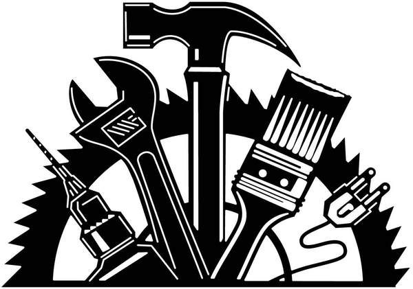 45+ Black And White Tool Clipart