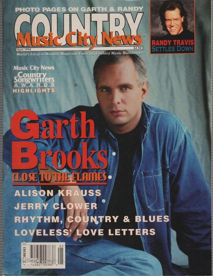 County Music City News Magazine April 1993 Garth Brooks, Randy Travis,