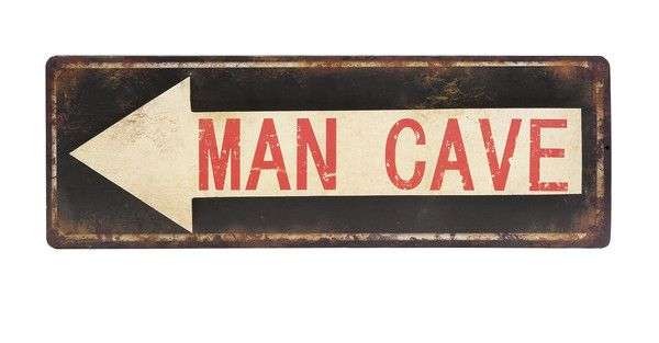 Point the way to the Man Cave with this rustic inspired and manly Man Cave Wall Sign.