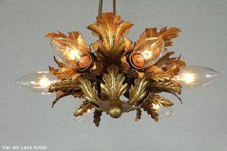 Italiaanse plafonniere 26240 bij Van der Lans Antiek. Meer antieke lampen op www.lansantiek.com