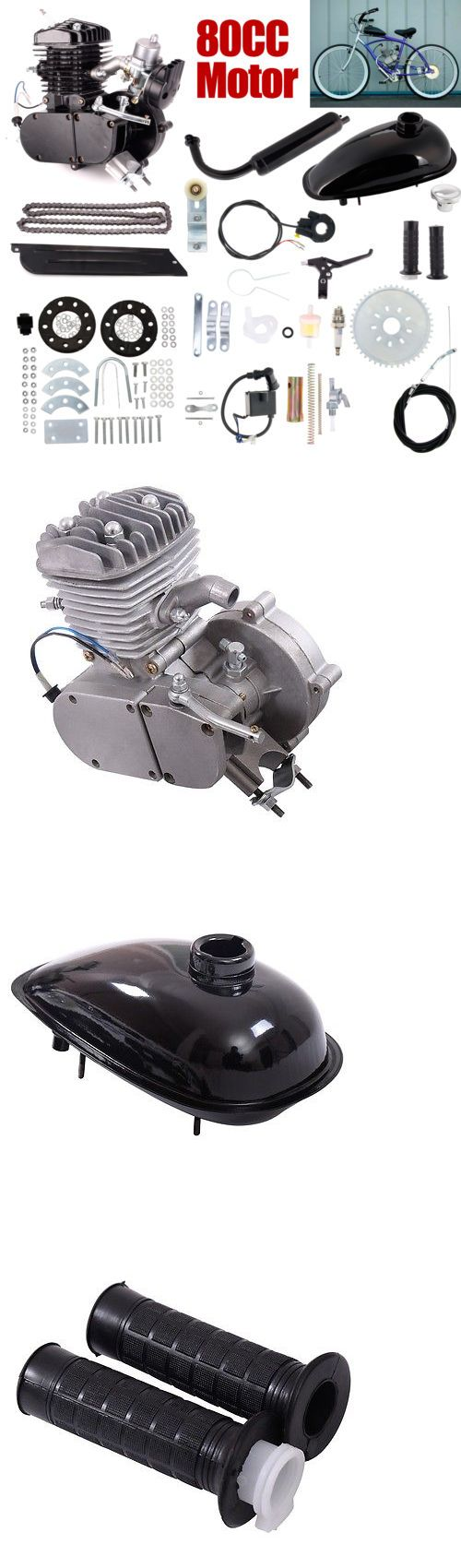 Other Bike Components and Parts 57267: 80Cc 2-Stroke Bicycle Gasoline Engine Motor Kit Diy Motorized Bike Black New -> BUY IT NOW ONLY: $96.99 on eBay!