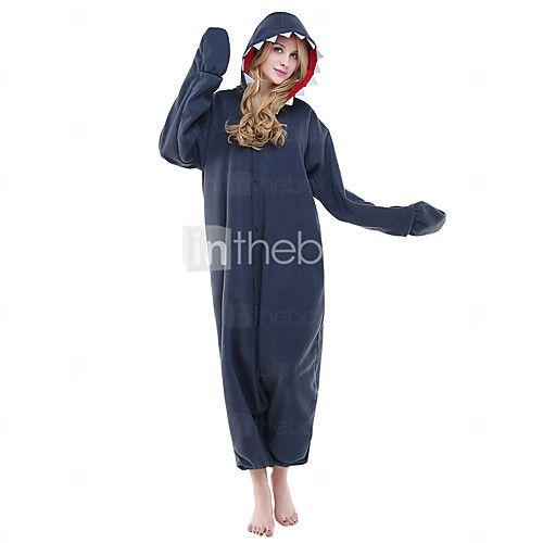 Kigurumi Pigiami Calzamaglia/Pigiama intero Feste/vacanze Sleepwear Animal Halloween Blu e blu inchiostro Stampa animal Pile Kigurumi Per - EUR €22.53