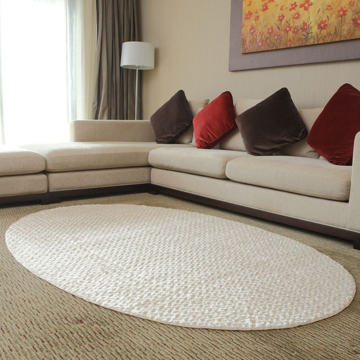 Cheap 150 cm * 220 cm riso bianco ellittico moderno nuovo