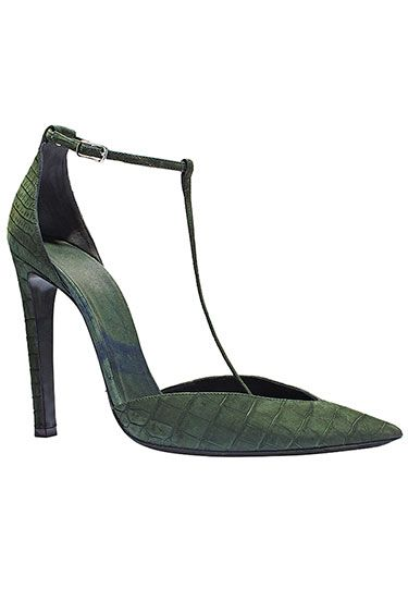 The Extras: Going Green: Balenciaga shoes, $6,350, Similar styles available at Nordstrom; 800-695-8000.
