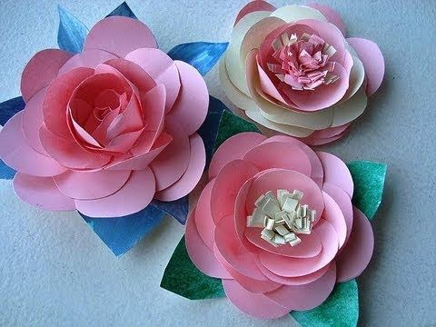 Paper flowers diy tutorial make a rose or water lily with for Handmade paper flowers tutorial