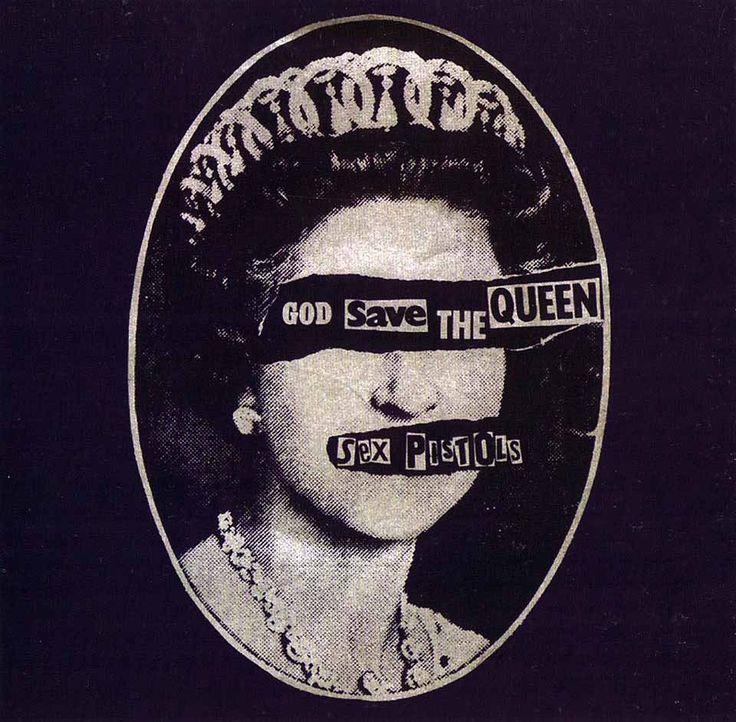 """Portada de disco de la banda """"Sex pistols"""". Se muestra el dadaismo como un movimiento artistico rebelde y destructivo.  En el sitio web se encontrara informacion de caracteristicas del moviemiento"""