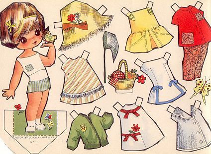 1963 paper doll Recortable / gabitogrupos.com