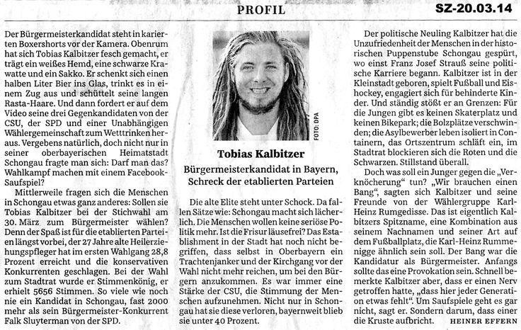 Bürgermeister-Stichwahl in Schongau am 30.3.14  #Bayern #Bürgermeister #Demonstration #Hans Söllner #Interview #Protest #Schongau #Sehnsucht weltweit #Stimmen Bayerns #Süddeutsche Zeitung #Tobias Kalbitzer #Trikont #Video