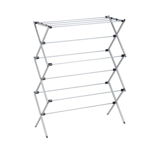 Silver Deluxe Folding Metal Accordion Drying Rack Drying Rack Laundry Clothes Dryer Rack Drying Rack
