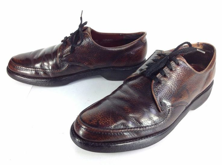 Men's Vintage Nunn Bush Brown Leather Moccasin Toe Dress Shoes Sz 9.5 D