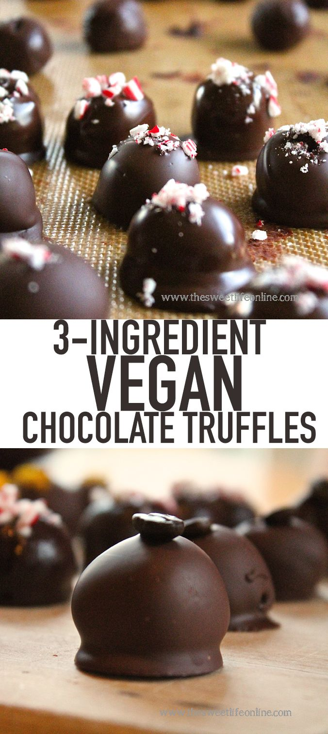 These simple vegan chocolate truffles make the perfect diy food gift ...