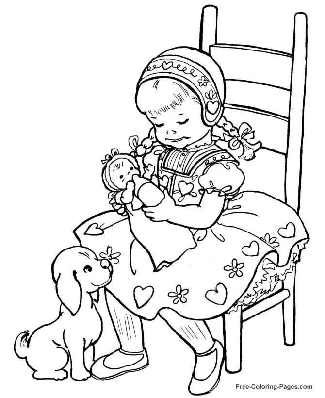 kids color page to print these free printable kids coloring pages are fun for children - Amish Children Coloring Book Pages