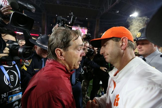 Alabama vs. Clemson: National Championship - 1/9/17 College Football Pick, Odds, and Prediction