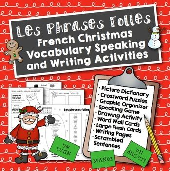 Noël: French Christmas Speaking and Writing Activities