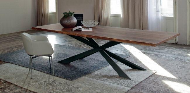 esstisch design cattelan italia massiver walnussholz platte