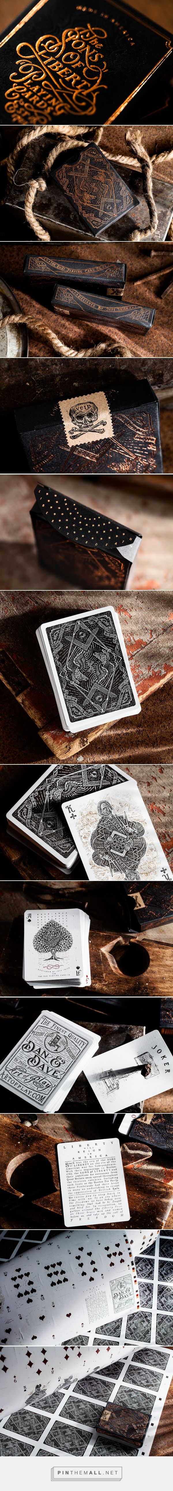 Sons of Liberty Playing Cards packaging designed by Jeff Trish - http://www.packagingoftheworld.com/2016/01/sons-of-liberty-playing-cards.html