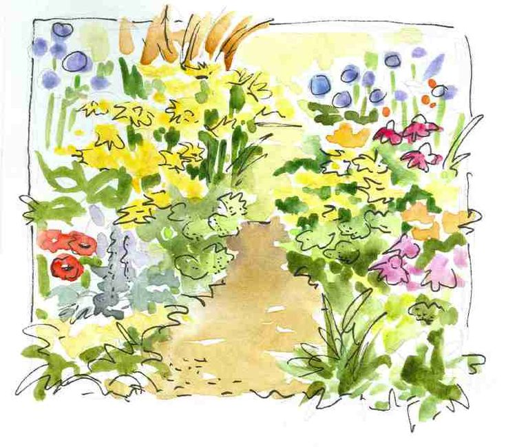 In and Out of The Studio-watercolor journal sketch of flowers