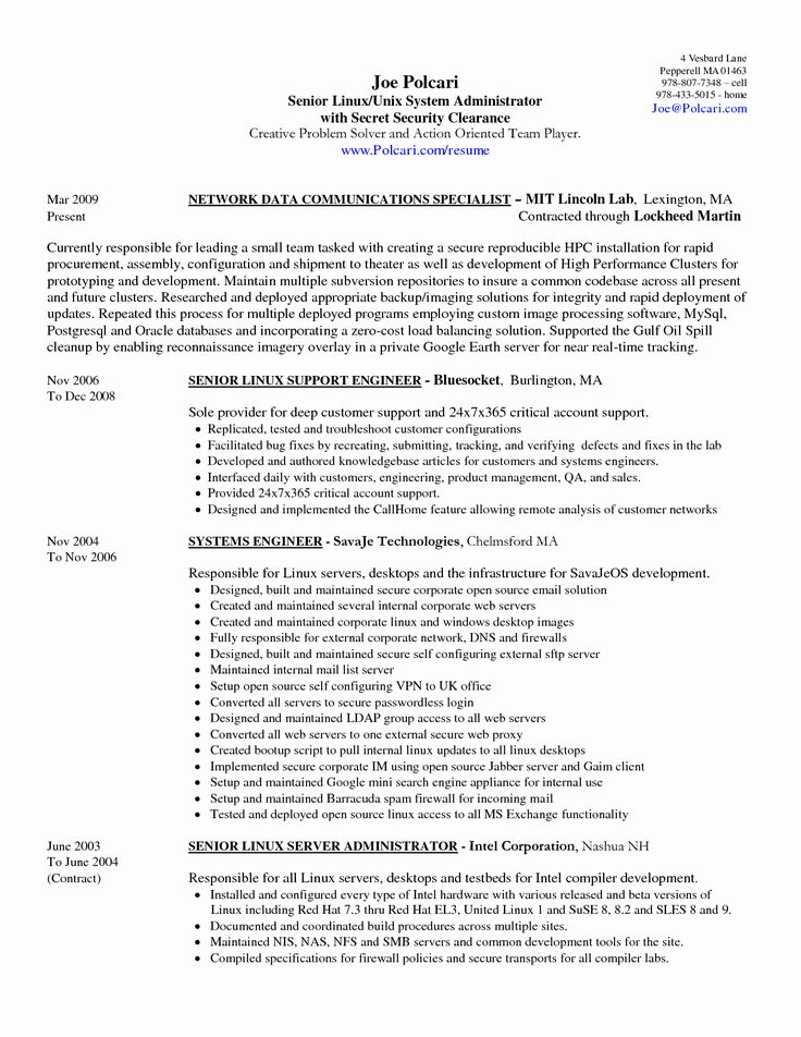 Salesforce Administrator Resume Examples Unique 11 12