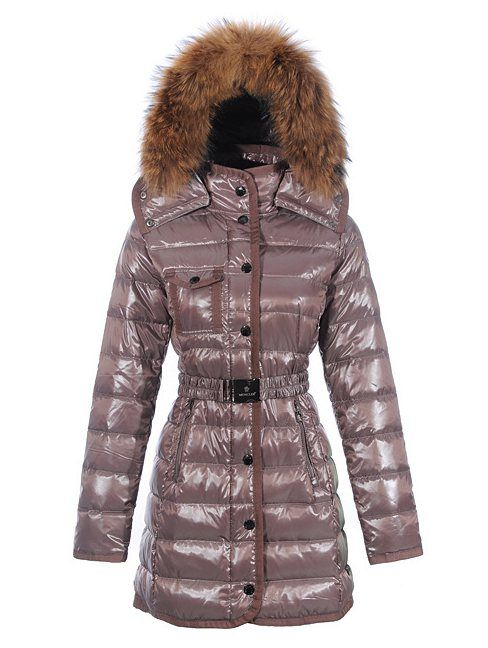 Moncler jacken sale - Moncler Lange Armoise Damen Fur Collar Daunenjacken Stil