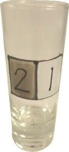 Awesome 21st Birthday Guys: 21st Birthday Gray Sq Shot Glass (Tall)