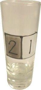 Awesome 21st Birthday Guys: 21st Birthday Gray Sq Shot Glass (Tall)