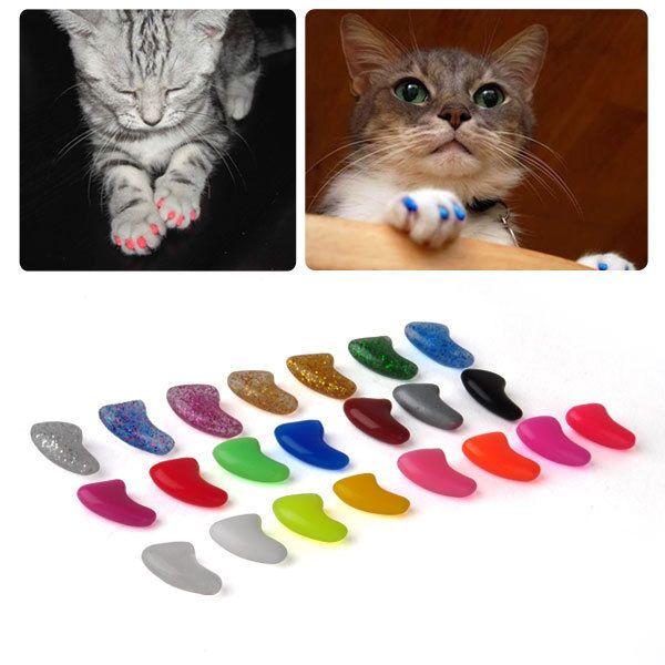 Kralle Pfote Schutz+Klebe Nail Nagel Cap Katze Haustier in Gr.XS/S/M/L 20Stk in Haustierbedarf, Hunde, Körper- & Fellpflege | eBay