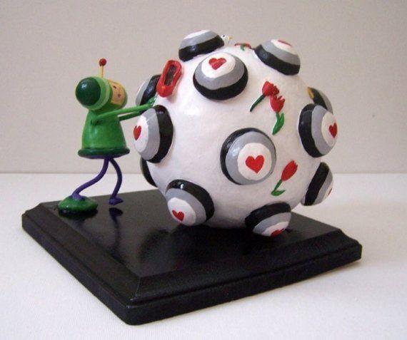 Miniature Katamari Prince Miniature Sculpture