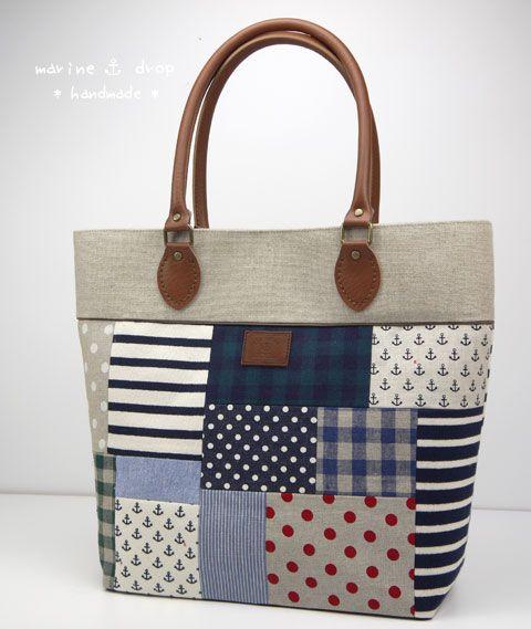 Marin patch ☆ shoulder bag (large) | Marinedrop