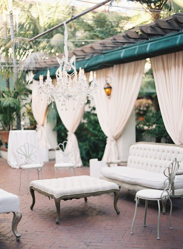 wedding reception at home ideas uk%0A Loggia Terrace transformed for Jenn and Jason u    s Four Seasons Resort Santa  Barbara wedding