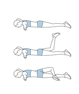 Strengthen Lower back Exercises in 15 minutes - scorpion stretch exercise + 5 others