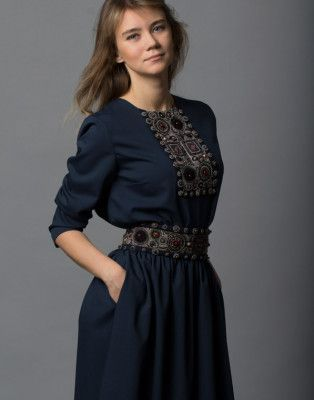 Костюм классический синий, шерсть levadnaja details