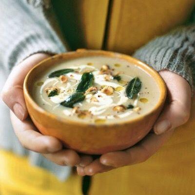 Apple & Celeriac #Soup #Recipe with Melia Extra Virgin #OliveOil.  >  #RECIPE:  http://www.jamieoliver.com/recipes/vegetables-recipes/apple-celeriac-soup/
