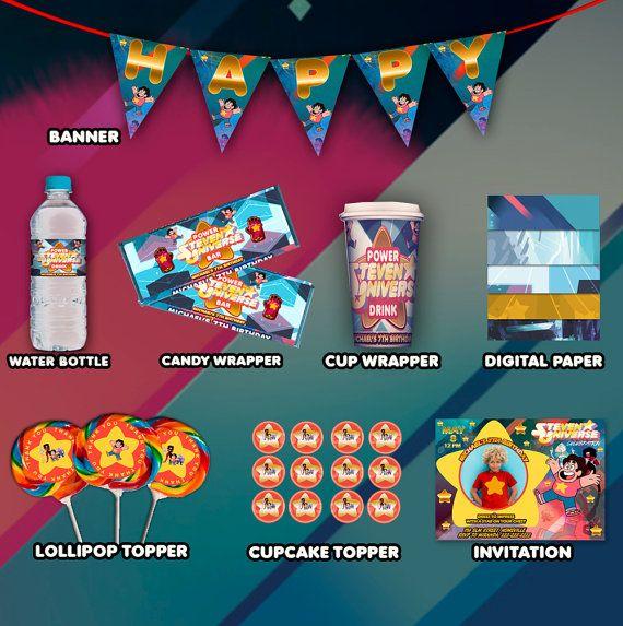 Steven Universe Complete Printable Invitation Party