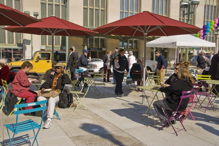 I like the idea of The Porch at 30th St. Station.  But it's so sterile yet--chairs and tables on concrete.  I hope this new money will bring in a TON of GREENERY, which the space sorely needs.Sterilize Yet Chairs, Favorite Places, Spaces Sore, Strict Philly, 30Th St