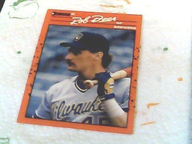 Donruss 1990 rob deer brewers card 55