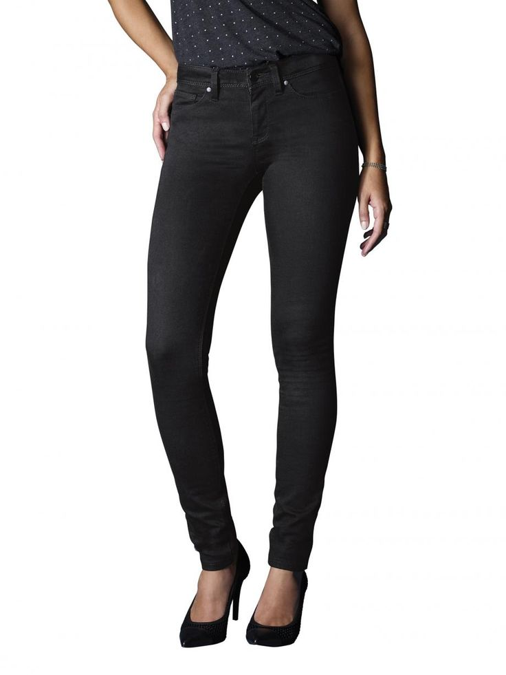 Super Skinny Jeans Absolute Black (Fit like a 7/8 length on me)