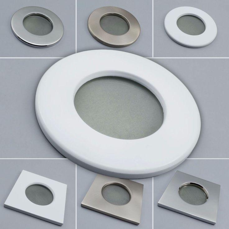 Fabulous Details zu Einbaustrahler Feuchtraum Spot Einbaurahmen Nassraum Badlampe Leuchte GU