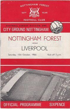 Vintage Football (soccer) Programme - Nottingham Forest v Liverpool, 1966/67 season #soccer #football #nottinghamforest #liverpool