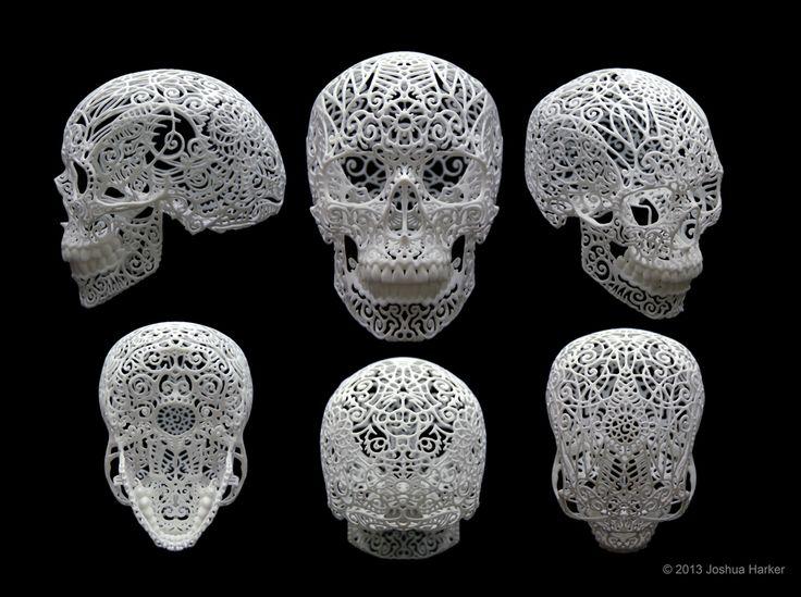 Benefik - Josh Harker - 3D printing art  #sculpture  #art #skull