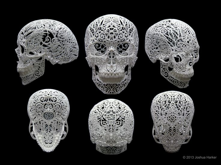 Benefik - Josh Harker - 3D printing art  #sculpture  #art #skull