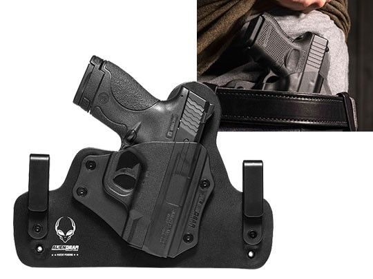 Shield 9mm Hybrid IWB Leather Holster