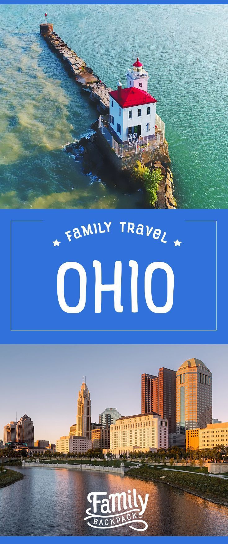Family Travel in Ohio-  Looking for a great #familytravel #destination without having to battle huge crowds of people? #Ohio is a great option for families! Check out our collection of fun #thingstodoin Ohio-  from family fun in #Cincinnati, exploring Amish country, checking out the animals at the #Columbus Zoo and Aquarium and more! Ohio is definitely #bucketlist worthy! Take a #roadtrip and get lost in Ohio, you won't be disappointed!