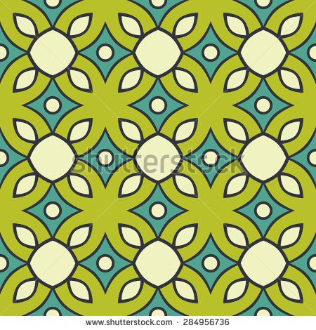 Geometric floral seamless pattern design. Could be used as wallpaper, wrapping paper, card, postcard, invitation background - stock vector